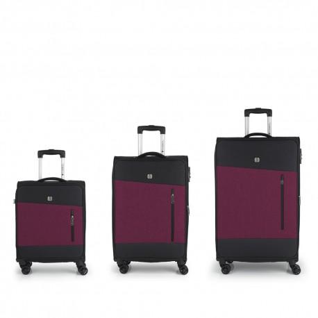 ست سه تایی چمدان نرم Saga