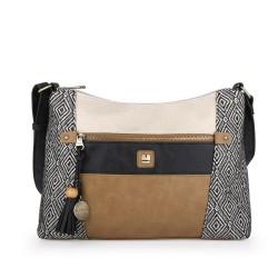 کیف دوشی زنانه Mawui سایز 10×24×38 - قهوه ای